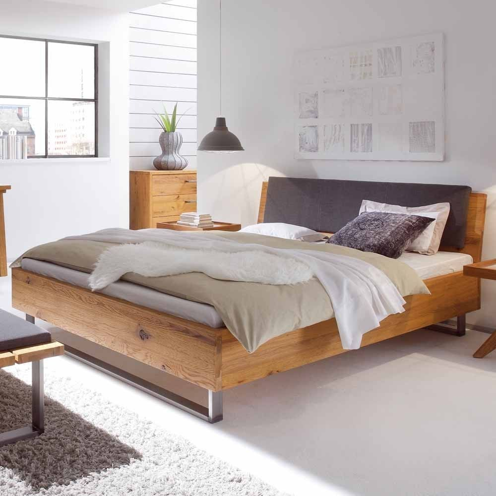 Wild Oak Solid Wood Bed With Upholstered Headboard Moebel Liebe Com In 2020 Schlafzimmer Design Designer Bett Bett Modern
