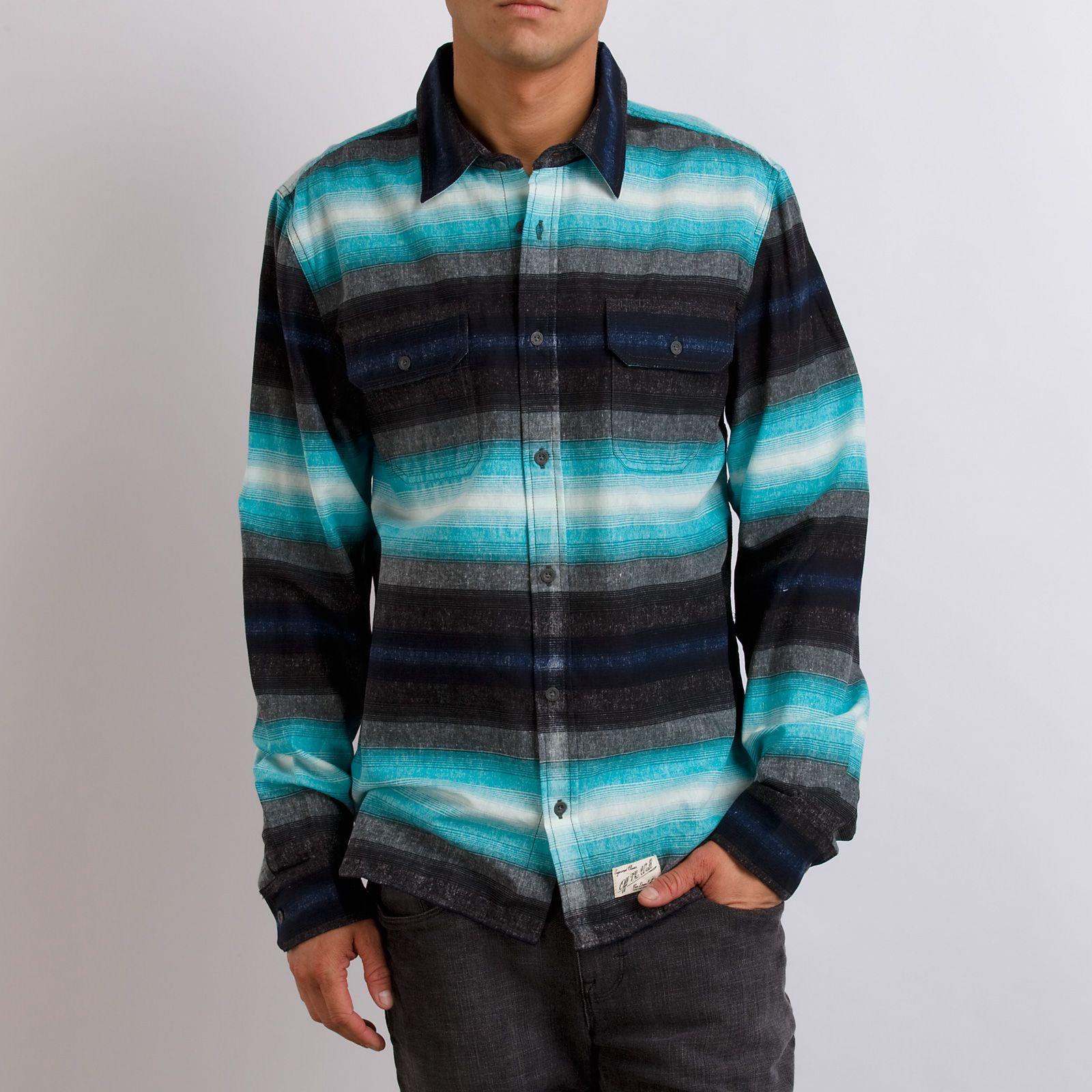 Flannel shirt and shorts men  VANS HOMBRE STRIPE SHIRT  Apparel Cut and Sew Menus  Pinterest