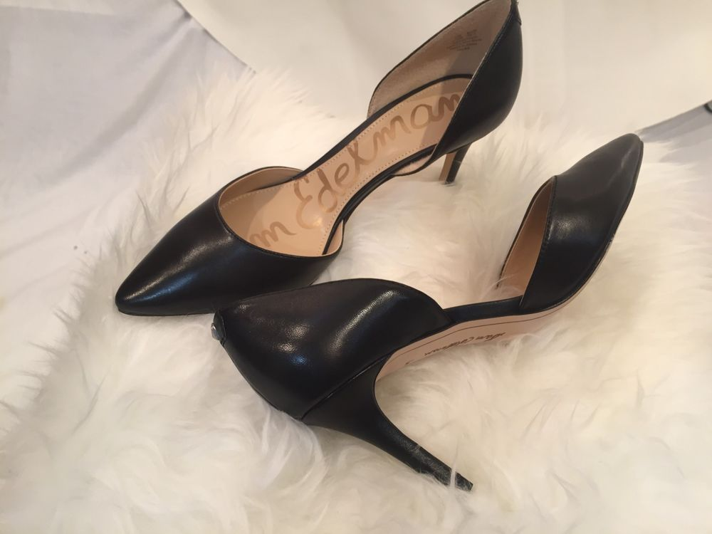 f96ec9f0d86f New Sam Edelman Telsa D'Orsay Pump Black Leather Women's Shoes Size 6 1/2  #fashion #clothing #shoes #accessories #womensshoes #heels (ebay link)