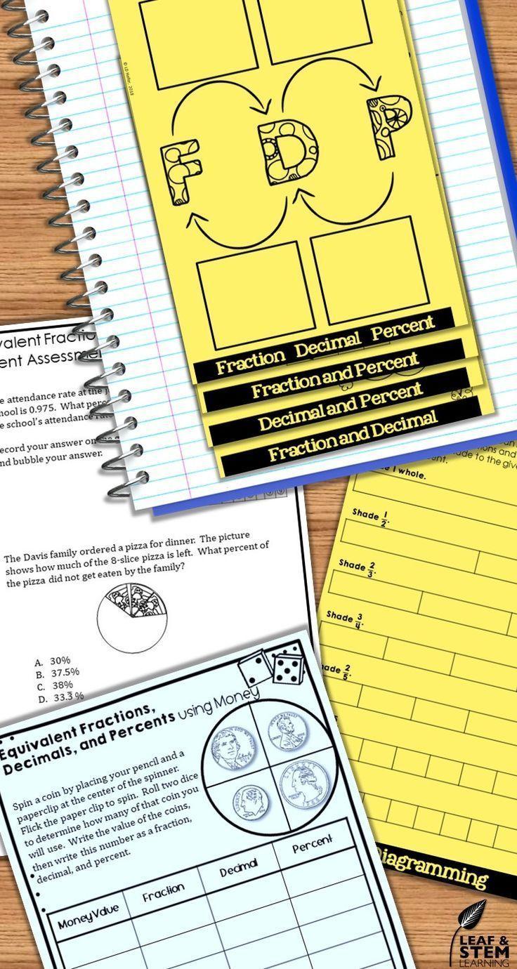 Ratios and Rates Interactive Notebook Set Interactive