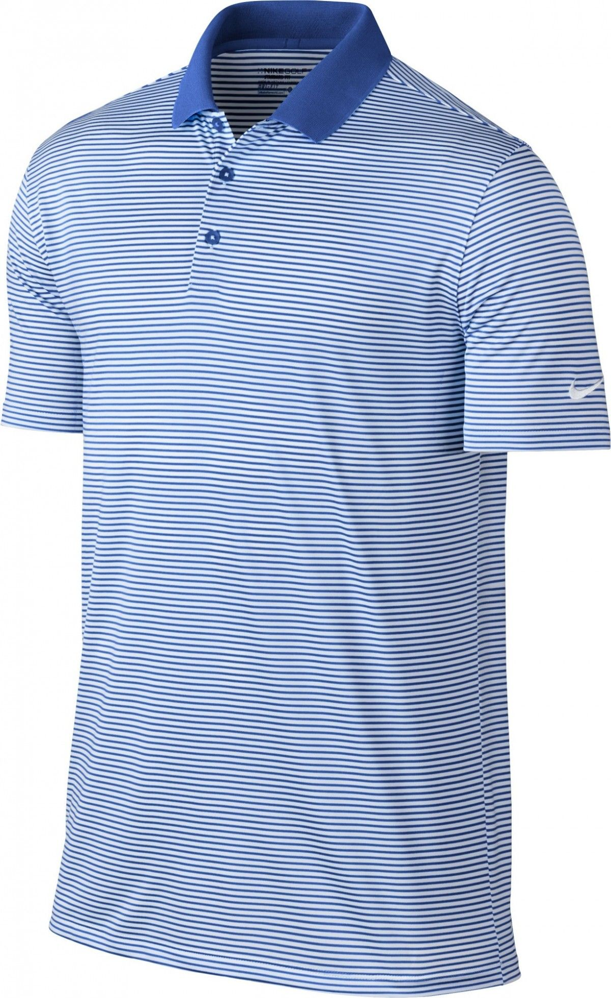 separation shoes 49d58 701ff NIKE Men s Dry Victory Stripe Polo, College Navy White, XXX-Large  Sporting  a ribbed collar that s designed to prevent Curling, men s Nike dry victory  golf ...