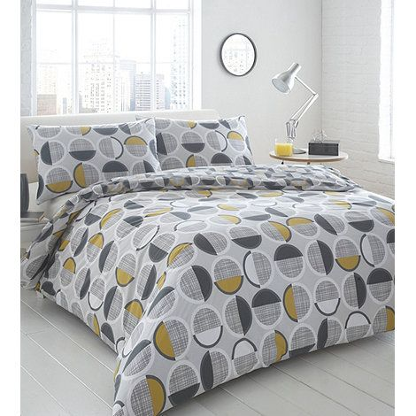 Home Collection Basics Grey 'Harley' geometric spotted bedding set- at Debenhams Mobile