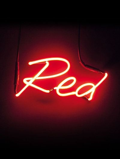 """SELETTI - """"RED"""" SHADES NEON WALL LAMP - RED"""