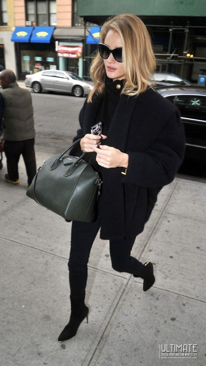 Rosie Huntington-Whiteley wearing Hermes Black Medor Watch Chanel Limited  Edition 6040 Pearl Sunglasses J BRAND 485 Luxe Sateen mid-rise skinny jeans  ... a3ea5bd6e8b67
