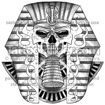 Tattoofinder Com The Return Tattoo Design By Ray Reasoner Egyptian Skull Black And Gray Pharaoh Mask Sphinx