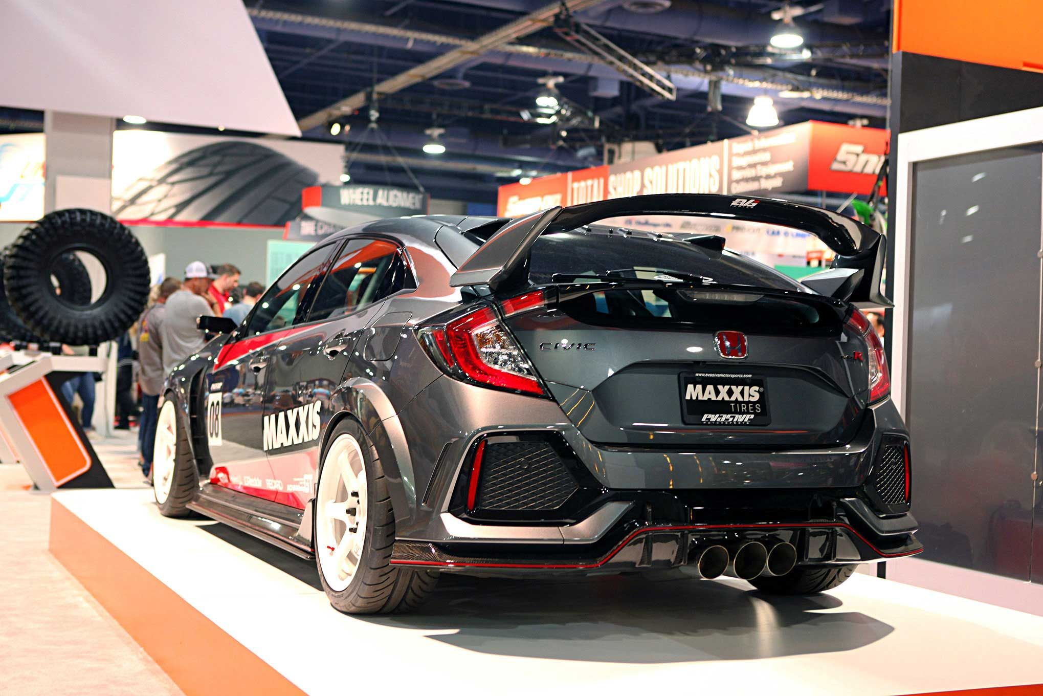 evasive motorsports civic type r evs tuning rear diffuser. Black Bedroom Furniture Sets. Home Design Ideas