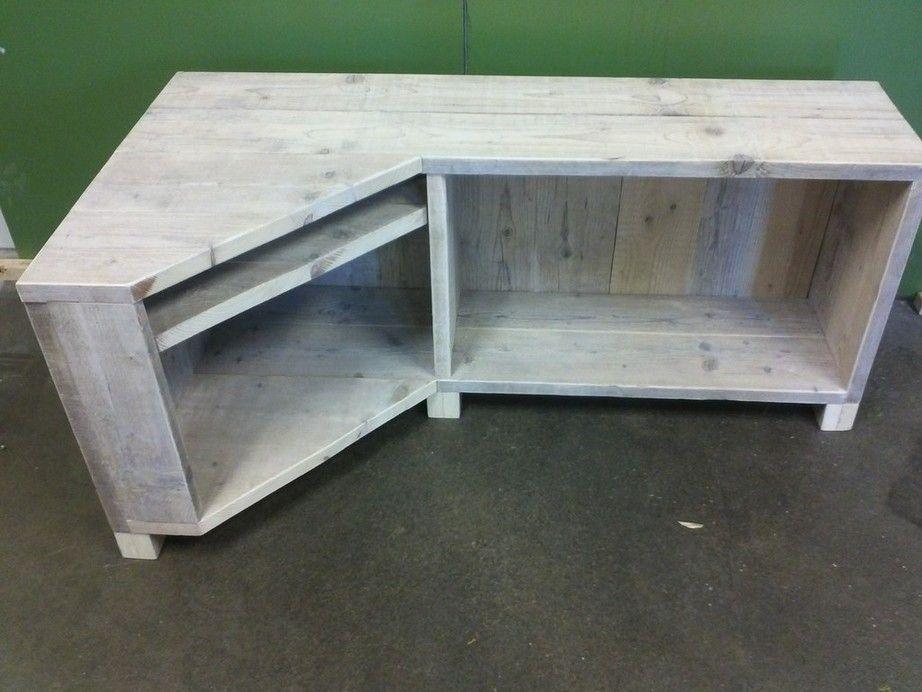 Tv meubel steigerhout google zoeken inrichting woonkamer pinterest wood projects living - Tv hoek meubels ...