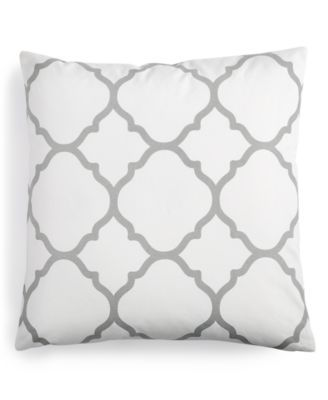 "Macy's Decorative Pillows Adorable Charter Club Damask Designs Geometric 18"" Square Decorative Pillow 2018"