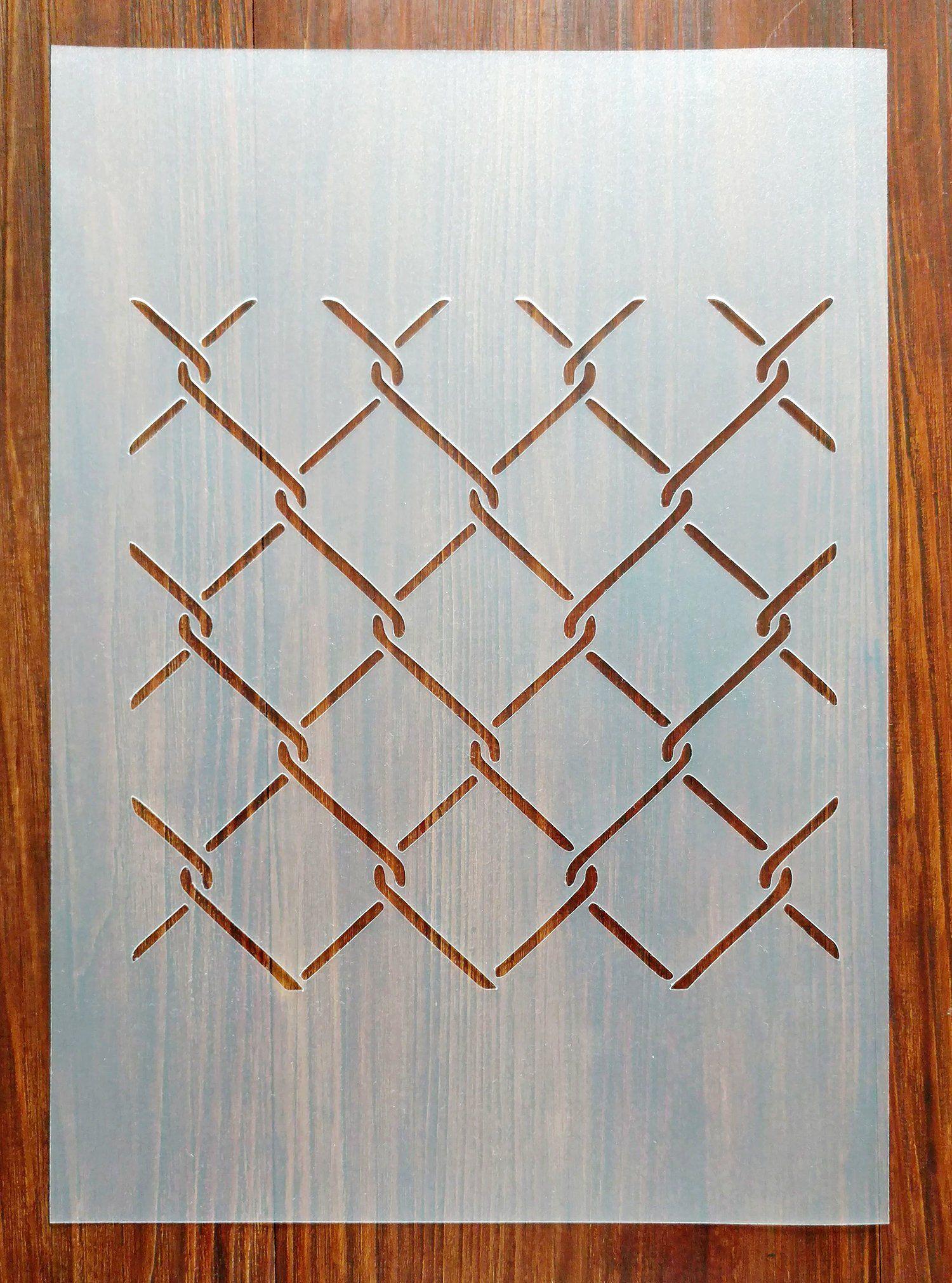 Stencil A4  8,2 x 11,7  21 x 29,7 cm Hexagon Stars Pattern