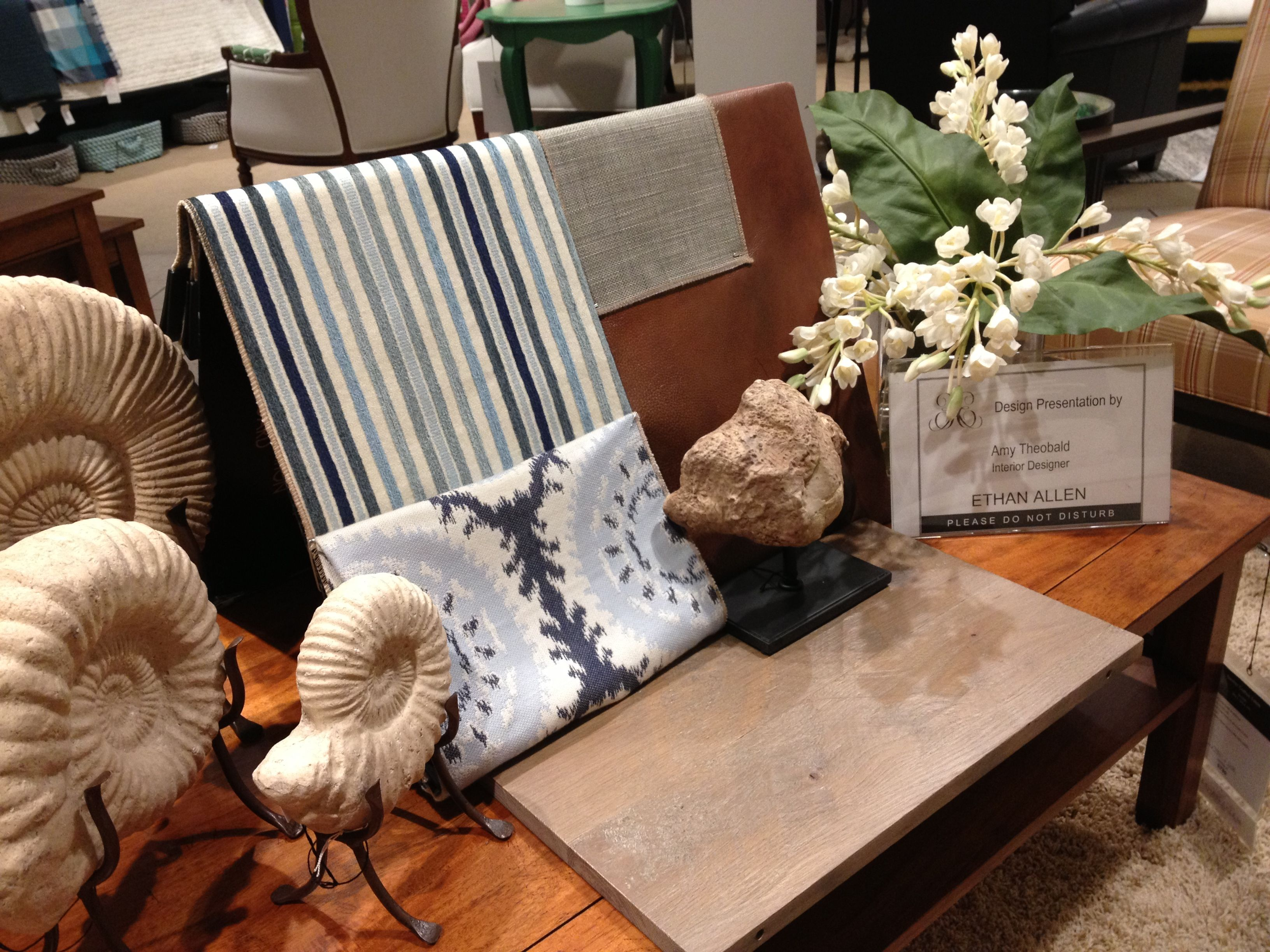 Client presentation rustic beach look Designed by Ethan Allen