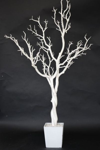 Winter wonderland white tree branch table centerpiece can - White painted tree branches ...