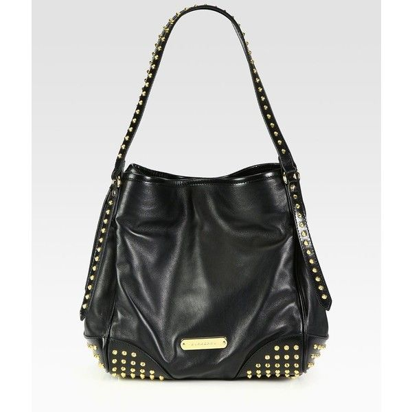 Burberry Canterbury black Stud Tote ($1,295) ❤ liked on Polyvore