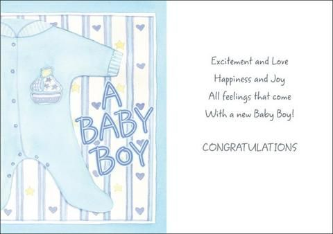 image result for baby boy cards messages