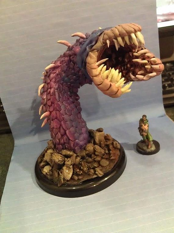 The Purple Worm by LittleSculptures on Etsy