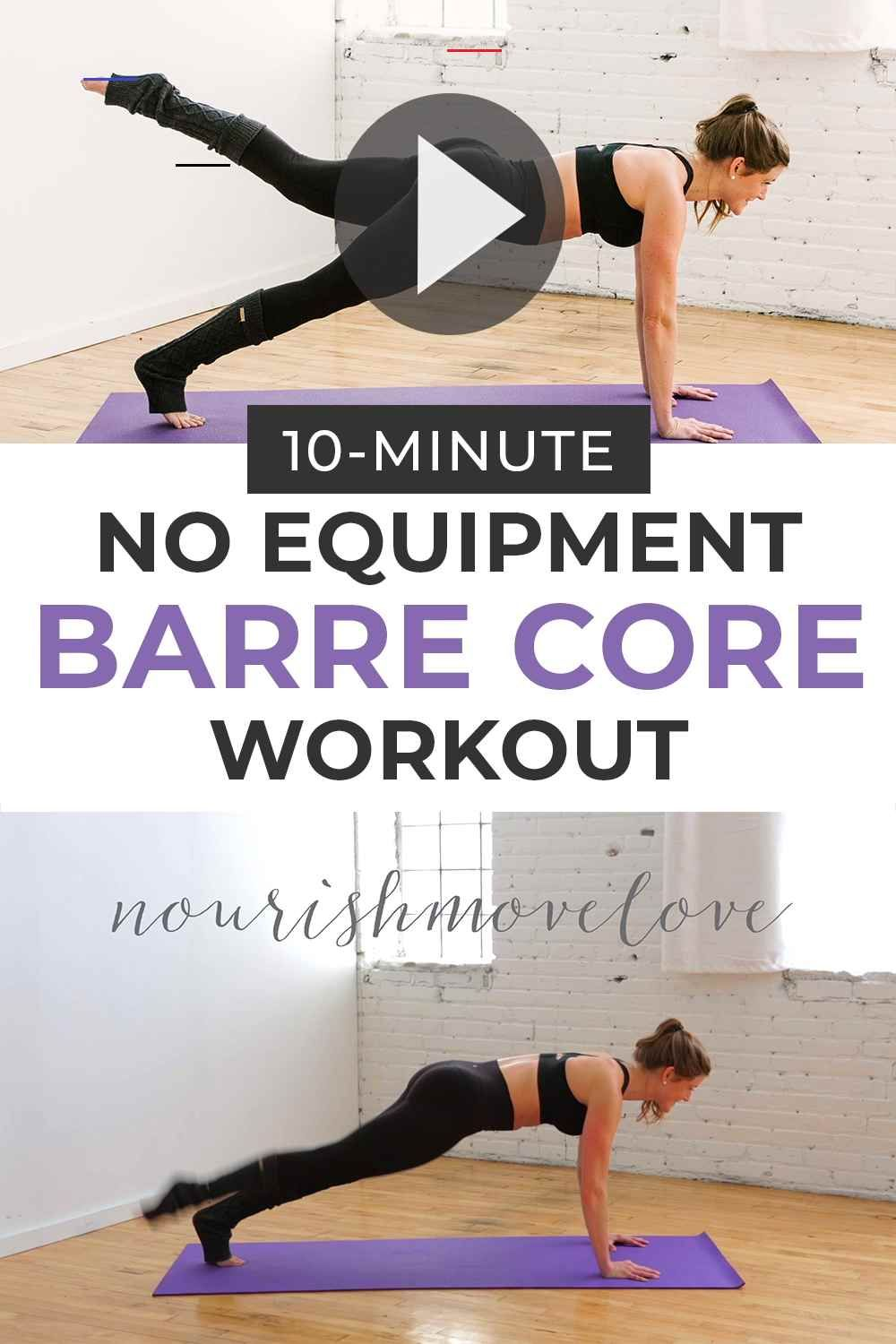 10 Minute Barre Workout Pilatesworkout Take It Down To The Mat For This 10 Minute Barre Core Workout In 2020 Workout Bauch Oberkorper Trainieren Training Zu Hause
