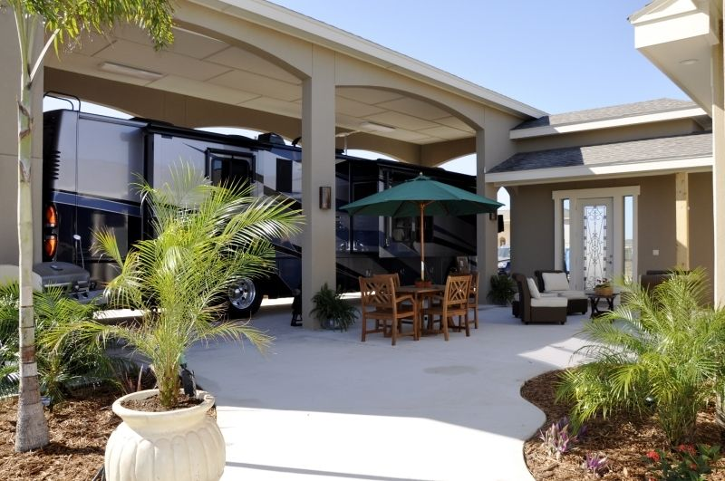 Rv Port Home Plans With Garden