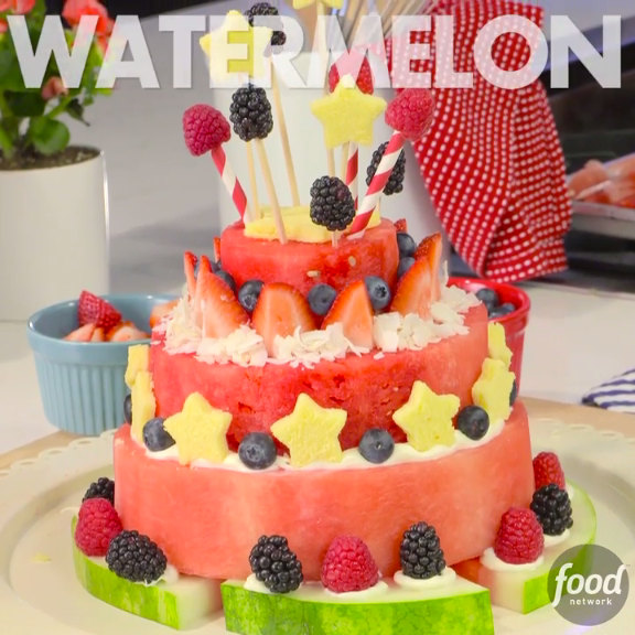 Watermelon Cake Centerpiece -- Add A Show-stopping