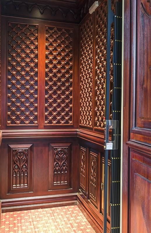 Has To Be One Of The Most Detailed And Aesthetically Pleasing Elevators I Ve Ever Seen Inside A Home Elevator Interior Elevator Design House Elevation