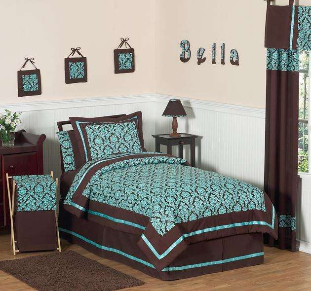 Turquoise And Brown Bedroom Ideas | Turquoise and Brown Bedding Set by  Sweet Jojo Designs by