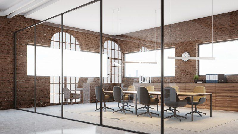 Customizable Zoom Virtual Backgrounds You Can Download For Free Canva Industrial Interior Design Office Background Design