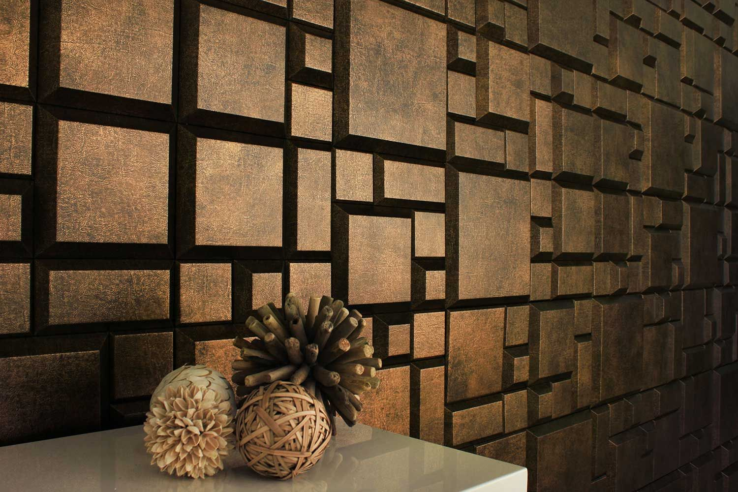 Chiseled Nacraft Collection Natile Faux Leather Wall Tiles