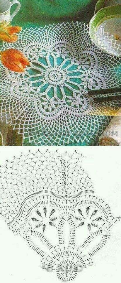 Pin by Marisha Hunt on Crochet Doily   Pinterest   Croché, Ganchillo ...