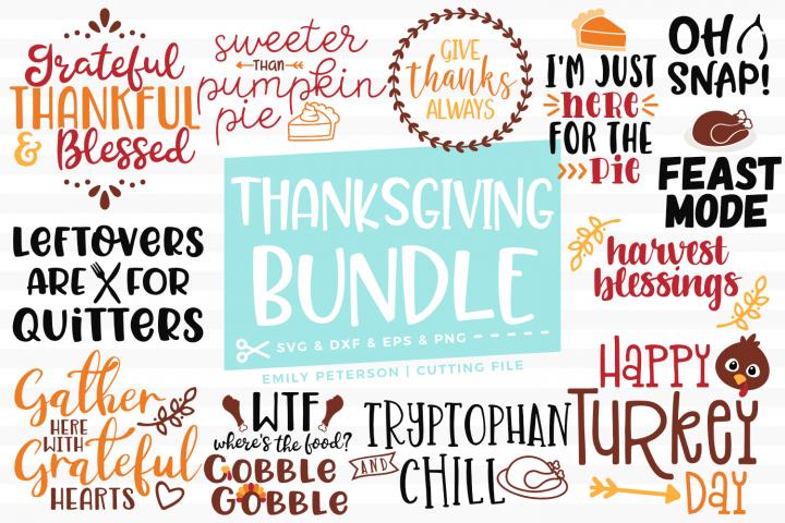 Thanksgiving Bundle 13 Designs Svg Dxf Eps Png Thanksgiving Party Supplies Svg Thanksgiving Fun
