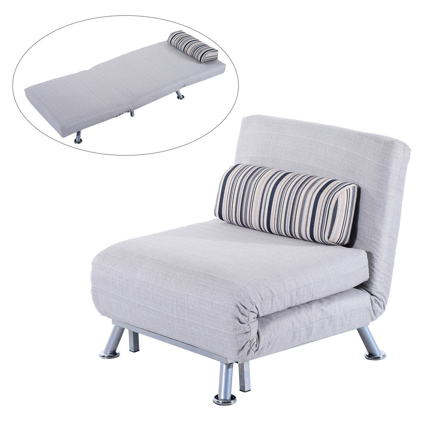 Hom Fold Out Futon Sofa Bed Single Sofa Sleeper Couch Lounger