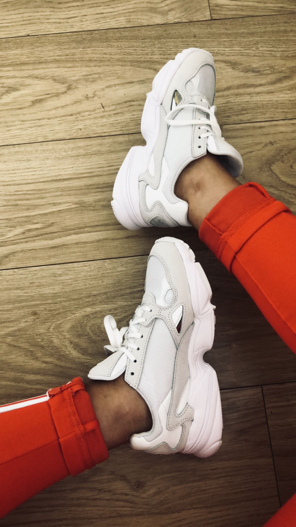 Adidas Falcon White | Shoe boots, Adidas shoes, Shoes