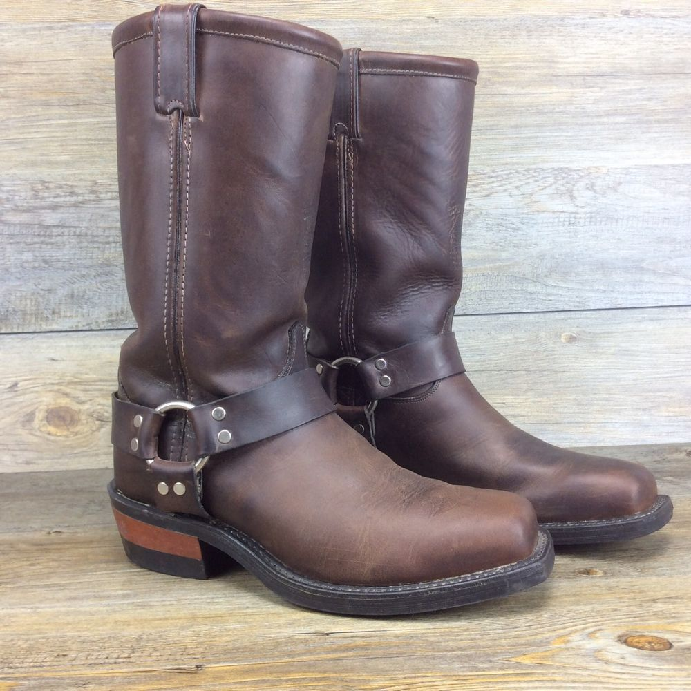 Chippewa Made in USA 97868 Oiled Brown Leather Harness Boots Size ...