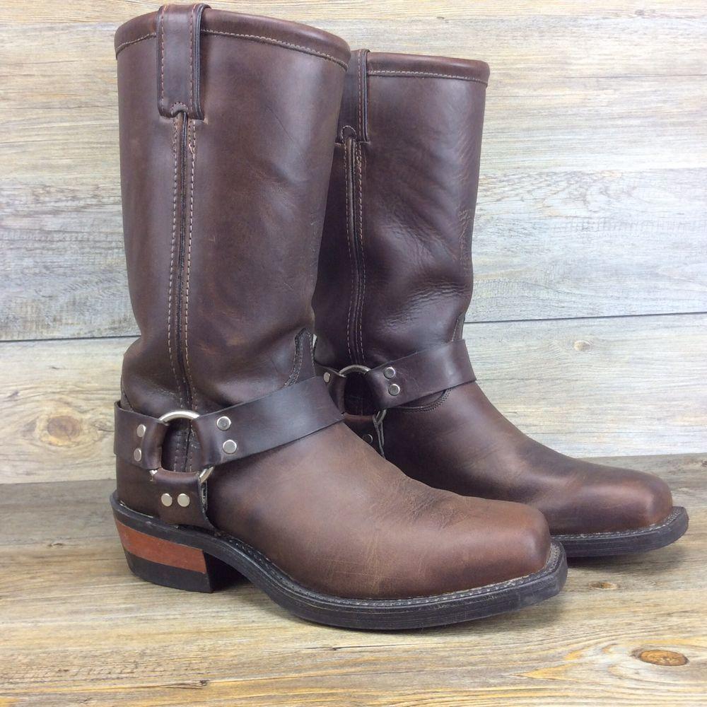 de99a93fce864 Dan Post Tan Brown Leather Cowboy Snip Toe Boots Size Mens 9.5 D Made in  USA | eBay