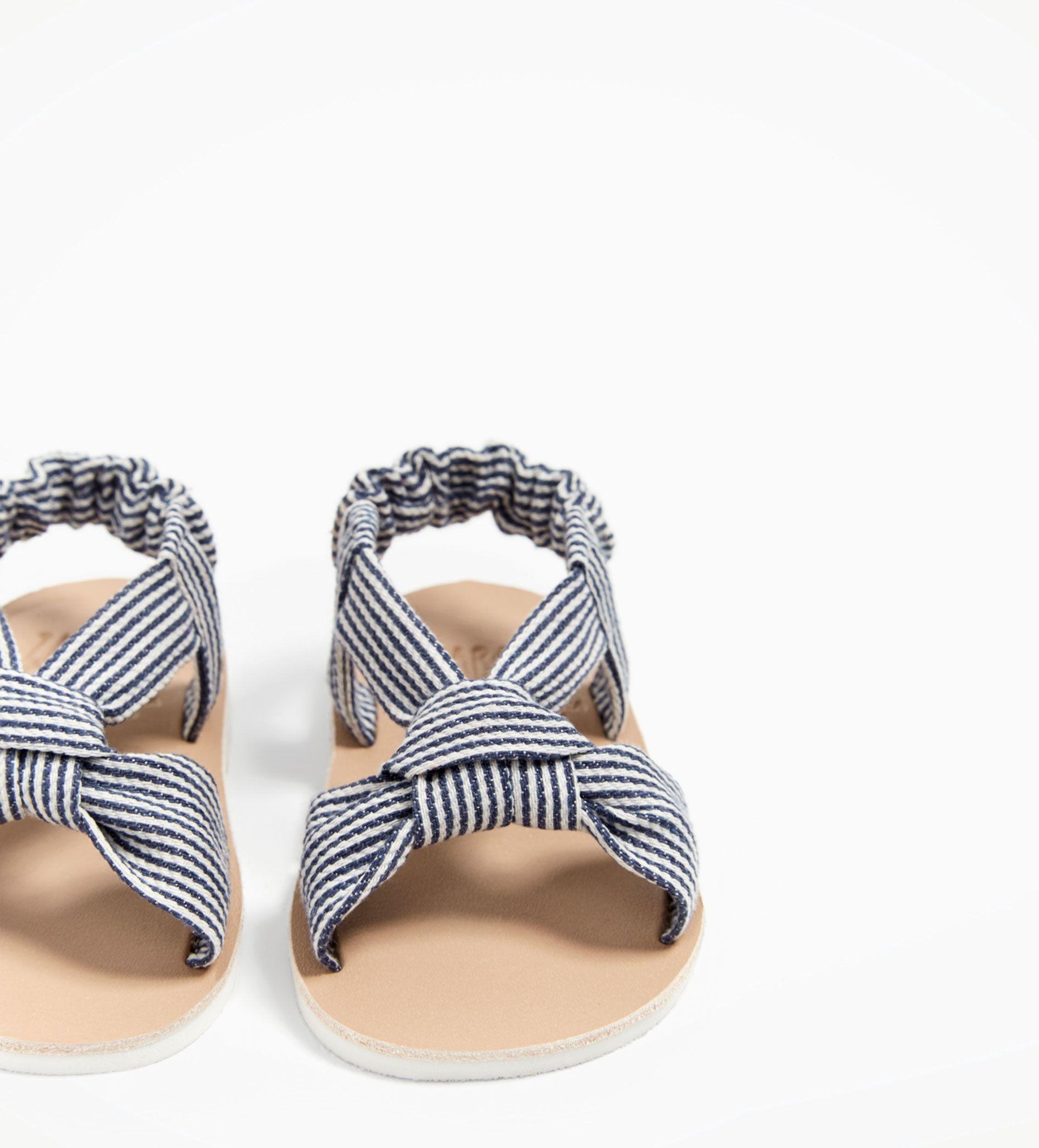 Sandales En Tissu Navy Nouveautes Mini 0 12 Mois Enfants
