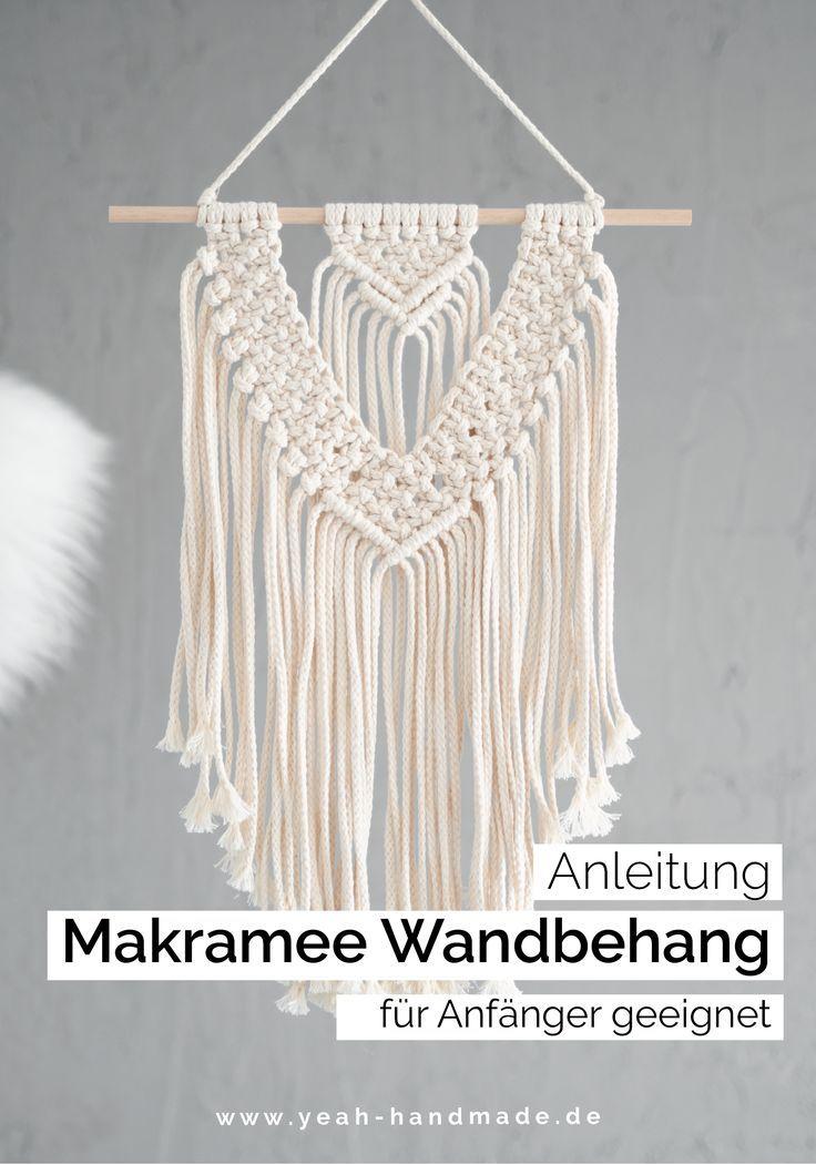 DIY Makramee Anleitung Wandbehang   pdf-Anleitung Schritt-für-Schritt, Deutsch   Deko oder Geschenk selber machen   Makramee lernen