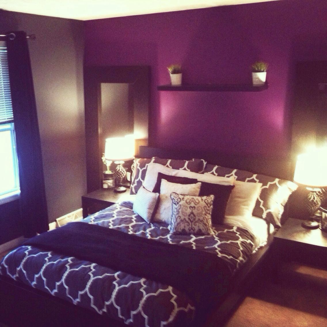 Purple and black rooms pinterest room