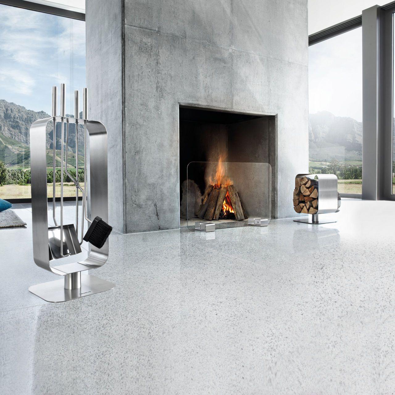 Kaminbesteck Modern holzablage und kaminbesteck wohnen