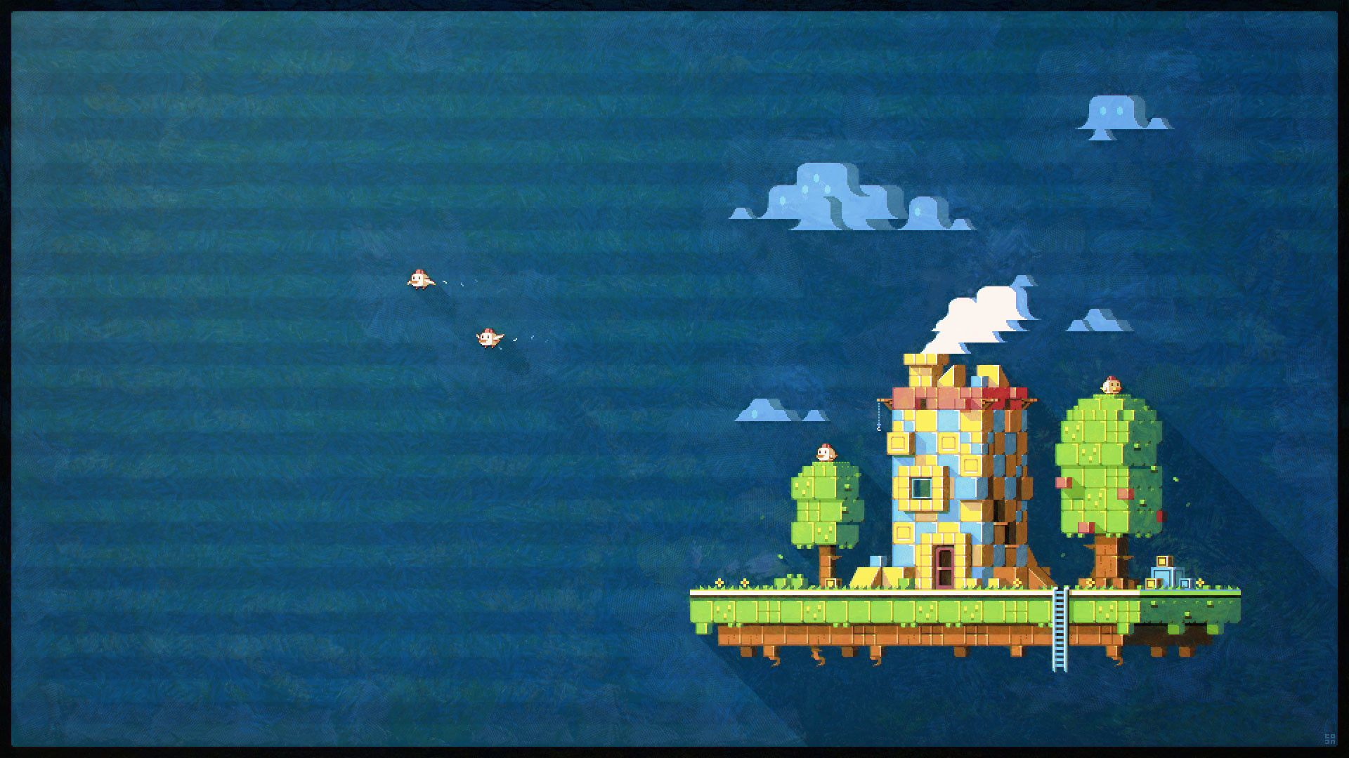 1920x1080 Pixel Art Fez Hd Wallpaper Thumb With Images Pixel