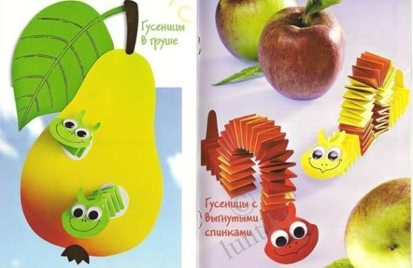 Craft ideas. Crafts from color paper for a kindergarten - A Flying bee and a…
