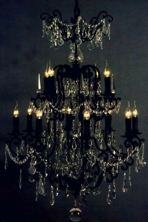 Black chandelier the black board pinterest black chandelier black chandelier mozeypictures Gallery