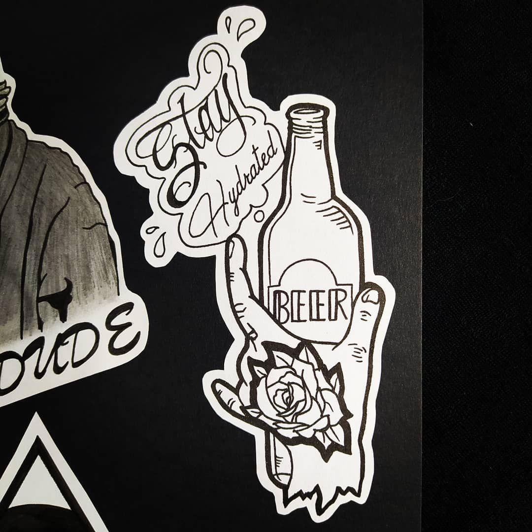#tattoo #tattooflash #flash #lamaisondutattoo #drawing #draw #dessin #beer #beertattoo #confinement #covid_19 #stay #hydrated