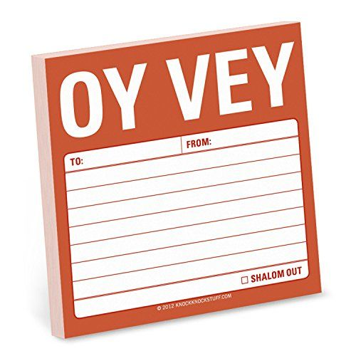 http://amzn.to/1XW7gsY Oy Vey Sticky Note Knock Knock