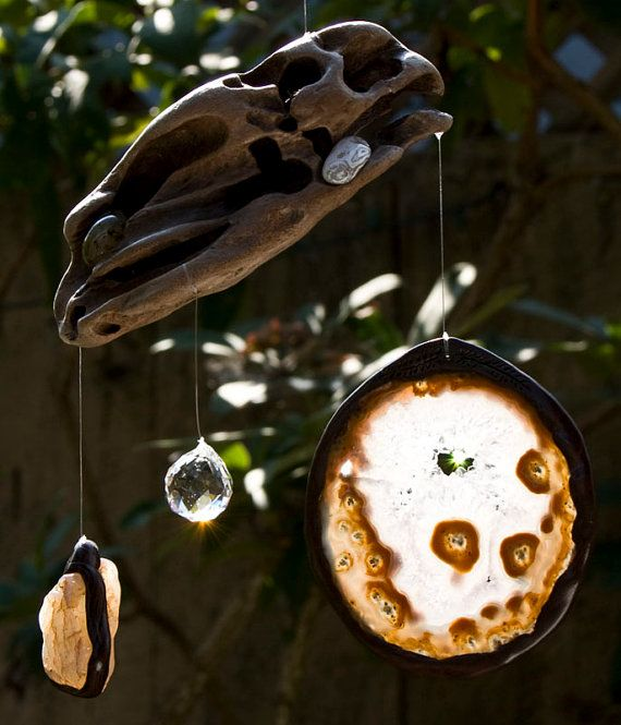Driftwood Mobile Sun Catcher Kinetic Art Wood by WoodintheWind, $46.00