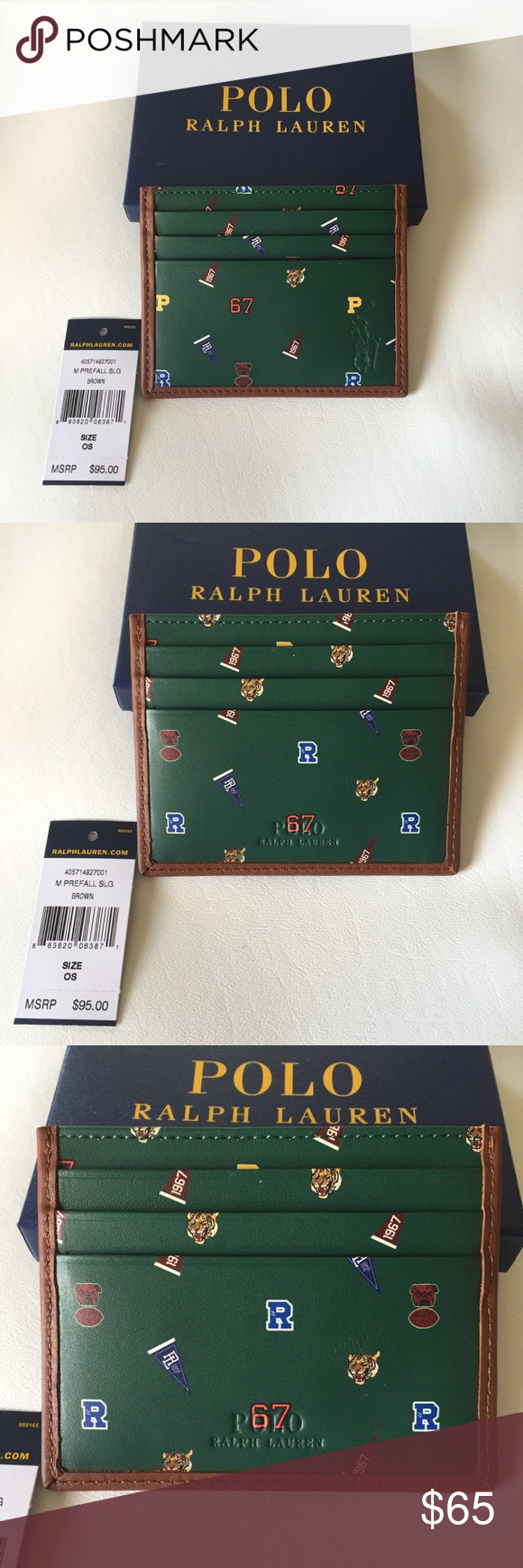 Wallet • Box Comes Ralph Cardholder With Lauren Nwt Gift Polo D2IHW9YeE