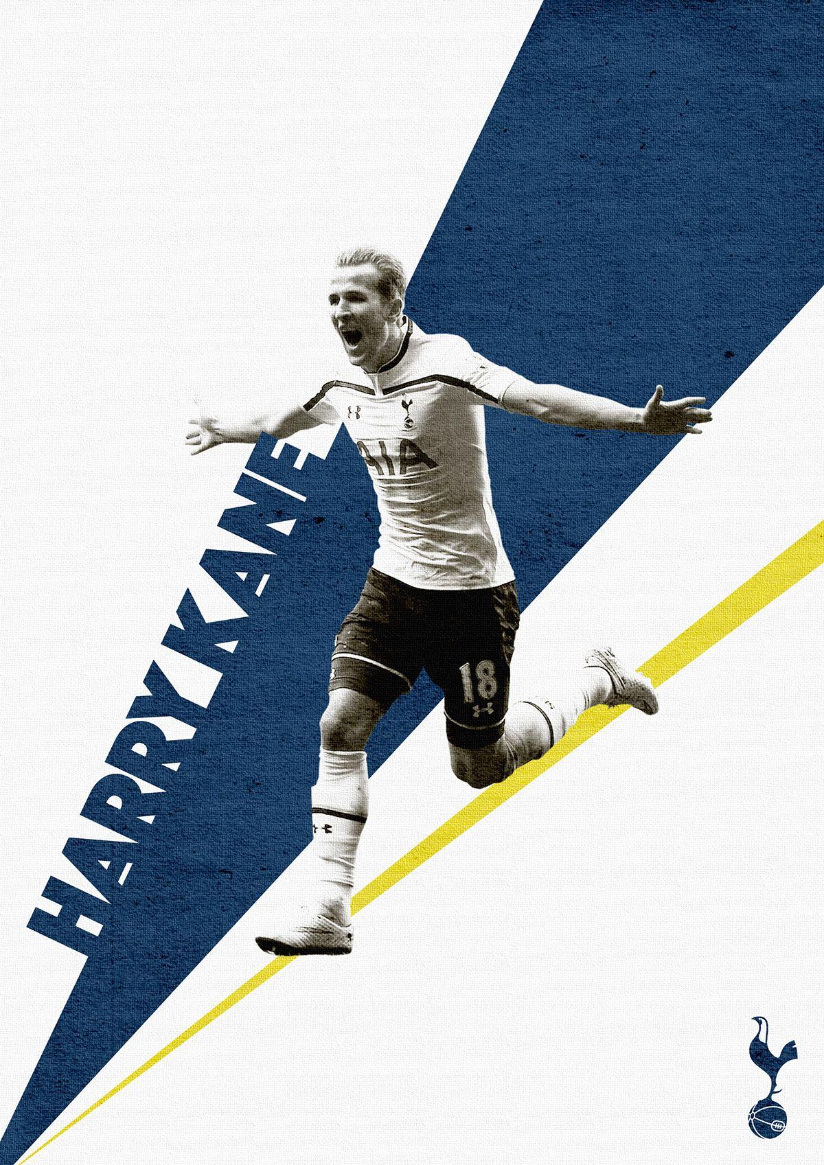 Harry Kane Tottenham Hotspur poster via Behance