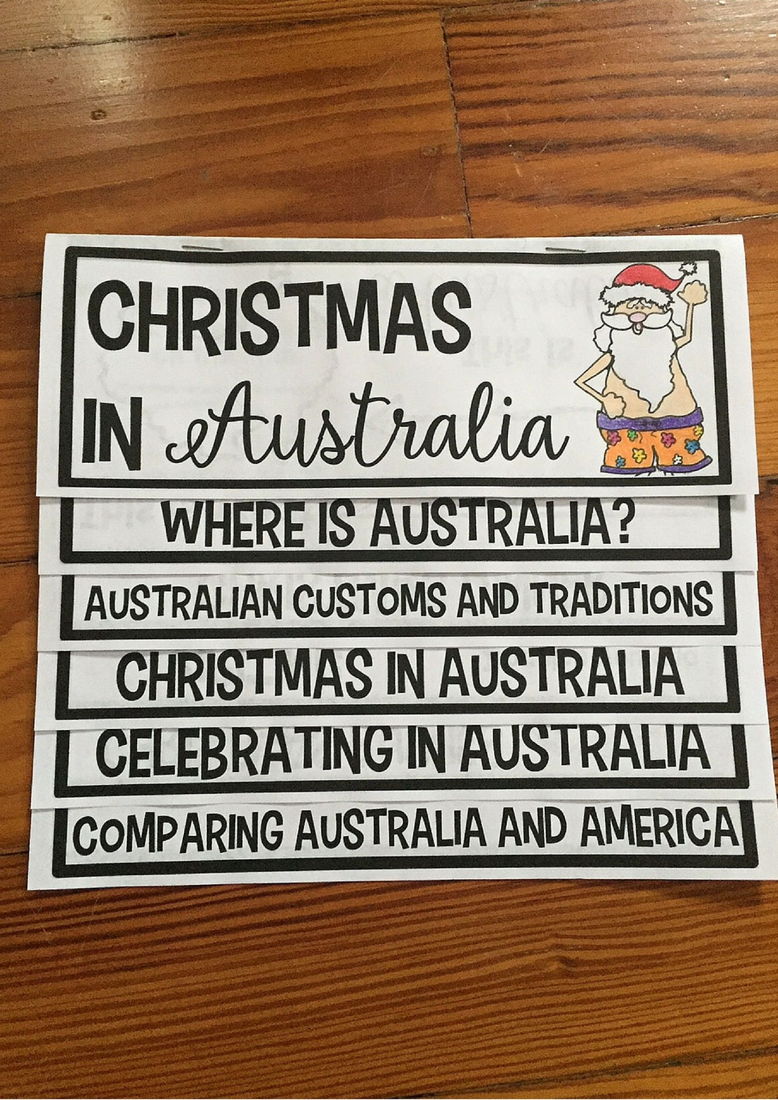 Christmas In Australia Flip Up Book