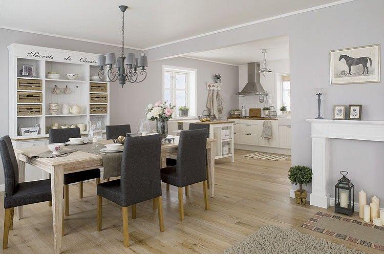 Salon Kuchnia Salon I Jadalnia To Jedno Wielkie Pomieszczenie Styl Skandynawski Biel Szary Drewno Stol Kanapa Lampa Shabby Home Home Home Decor