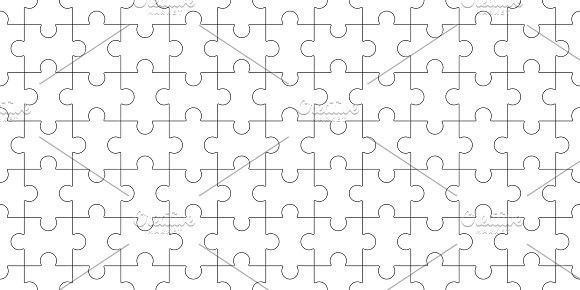 Jigsaw puzzle blank template, seamless puzzle pattern Mosaic - blank puzzle template