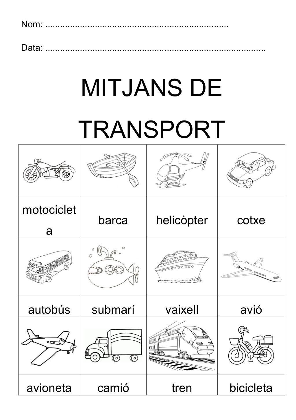 Transports By Monica Roige Sedo Via Slideshare