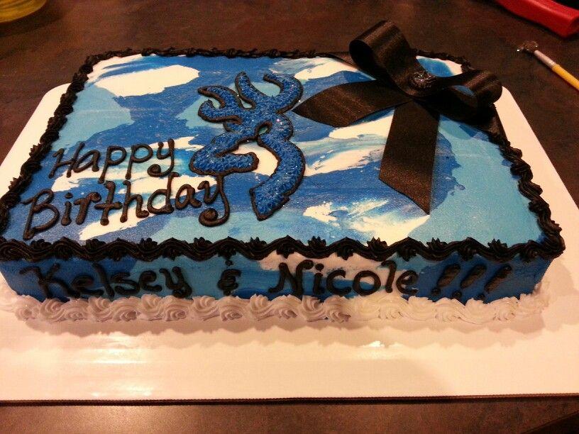 Blue camo Amys cakes Pinterest Blue camo Birthday cakes and Cake