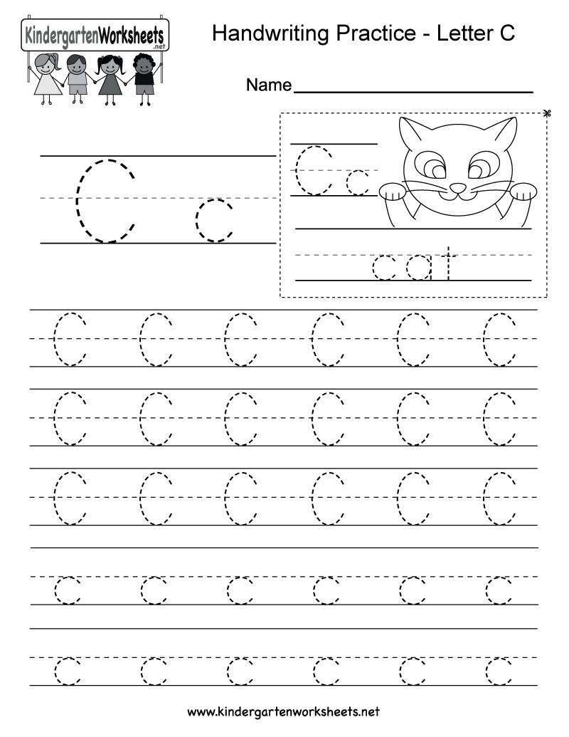 Kindergarten Letter C Worksheet In 2020 Writing Practice Worksheets Alphabet Writing Worksheets Alphabet Writing