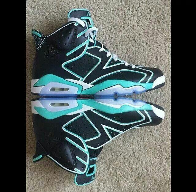 """Air Jordan 6 """"Tron"""" Customs"""